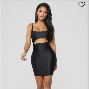 Fashion nova cut to the chase black dress